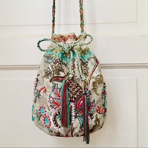 Accessorize Floral Embroidery Crossbody Bag
